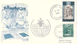 FDC CITTA' VATICANO 3-8-1969 V. DI PAOLO VI IN UGANDA S.MESSA COLLINA DI GABA. - FDC