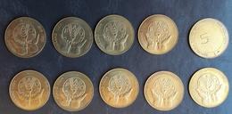 SLOVENIA 5 Tolarjev 1995 FAO 10 Pieces Unc  Commemorative Coin - Slovenia