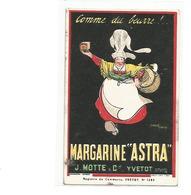 CPA PUB  MARGARINE ASTRA J MOTTE C YVETOT COUREL HENOUX - Publicité