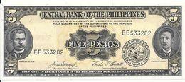 PHILIPPINES 5 PESOS ND UNC P 135 E - Philippines