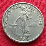 Philippines 25 Centavos 1958 KM# 189.1 Filipinas Pilipinas - Philippines