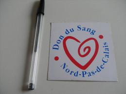 Autocollant - SANTE - Don Du Sang NORD PAS DE CALAIS - Autocollants