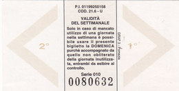 MILANO  /  ATM _ Biglietto Rete Urbana - Bus