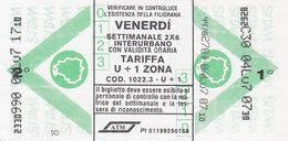 MILANO  /  ATM _ Biglietto Rete Interurbana - Bus