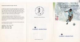 WORLD CUP USA-FDC 1994 LA PLATA, L'ARGENTINE, 5 STAMPS AVEC BORD DU PLAQUE- BLEUP - World Cup