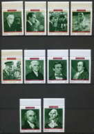364z Fujeira MNH ** Mi N° 485 / 494 A Personalities From American History Espace (space) Kennedy Armstrong Lincoln Nixon - Kennedy (John F.)