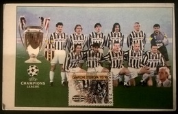 CARTOLINA JUVENTUS 1996 CHAMPIONS LEAGUE - Altre Collezioni
