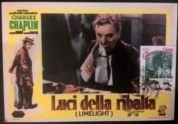 CARTOLINA LUCI DELLA RIBALTA (CHARLIE CHAPLIN) - Autres Collections