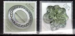 2015 Aaland - Jewelery -joint Issue With Switzerland - 2 V Paper - MNH** MiNr. 413 - 414 - Gemeinschaftsausgaben