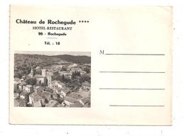 Rochegude- Château De Rochegude , Hôtel Restaurant-carte Lettre-(C.8471 Bis) - Non Classés