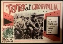 CARTOLINA TOTO' AL GIRO D'ITALIA - Autres Collections