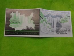 Carte Pavillon De La Cascade Bois De Boulogne 13.5 Cm X11 Cm Non Ouverte - Visiting Cards