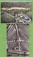 2 CPSM Saint PIERRE Bourg Neuf Chantier Uranium + Intérieur Eglise 15 Cantal - France