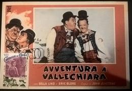 CARTOLINA AVVENTURA A VALLECHIARA (STANLIO E OLLIO) - Altre Collezioni