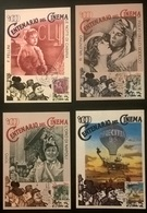 4 CARTOLINE 1a SERIE DEL CINEMA CON ANNULLI - Altre Collezioni