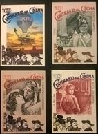 4 CARTOLINE 1a SERIE DEL CINEMA - Autres Collections
