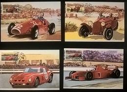 4 CARTOLINE SERIE FERRARI - Car Racing - F1