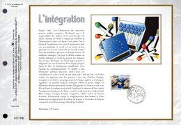""""""" EUROPA 2006 : L'INTEGRATION / ETOILES """" Sur Feuillet CEF N°té En SOIE De 2006. N° 1823s. N°YT 3902. Parfait état FDC - 2006"""