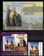 2013 Mosque Of Two Countries - Joint Issue Of Turkey And Romania - Both Countries Issue - 2 MS And 1 V -MNH** - Gemeinschaftsausgaben