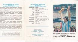 XIII COPA MUNDIAL FUTBOL MEXICO CAMPEON ARGENTINA-FDC 1986 LA PLATA, L'ARGENTINE, STAMPS BLOCK- BLEUP - 1986 – Mexico