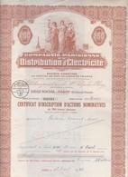Th4ELECTRICITE : PARIS - Certificat1943   (03) - Autres