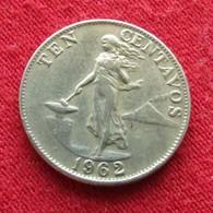Philippines 10 Centavos 1962 KM# 188  Filipinas Pilipinas - Philippines