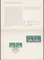 "Bund: Minister Card - MinisterkarteTyp IV, Mi.-Nr. 628 ** U. ESST: "" 75 Jahre Nord-Ostsee-Kanal "" RR !  X - Covers & Documents"