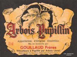*** ETIQUETTES  ***- Appellation  Arbois  Pupillin  Gouillaud Frères - - Blancs
