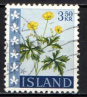 ISLANDA - 1960 - RANUNCOLO - USATO - 1944-... Republik