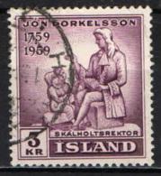 ISLANDA - 1959 - JON THORKELSSON - VESCOVO LUTERANO - USATO - 1944-... Repubblica