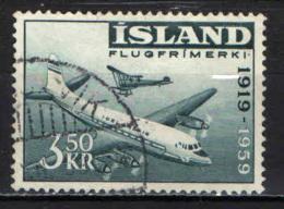 ISLANDA - 1959 - 40° ANNIVERSARIO DELLE LINEE AEREE ISLANDESI - USATO - Usati