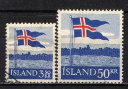 ISLANDA - 1958 - 40° ANNIVERSARIO DELLA BANDIERA ISLANDESE - USATI - Usati