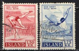 ISLANDA - 1957 - SPORT: LOTTA E TUFFI - USATI - 1944-... Repubblica