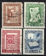 ISLANDA - 1953 - ANTICHI MANOSCRITTI DELLA BIBLIOTECA DI REYKJAVIK - USATI - 1944-... Repubblica
