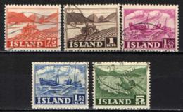 ISLANDA - 1950 - IL LAVORO IN ISLANDA - USATI - 1944-... Repubblica