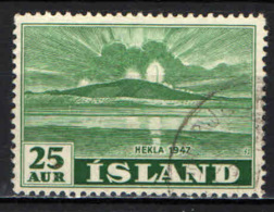 ISLANDA - 1948 - ERUZIONE DEL VULCANO HEKLA - USATO - 1944-... Repubblica