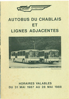 Autobus Du Chablais Dépliant Horaire - Europe