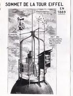 6 Photos Sur L'évolution Du Sommet De La Tour Eiffel  De 1889 à 1965 ?  Météorologie .....  Rare - Places