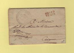 Turin - 104 - Port Paye - 1811 - Franchise Du Substitut Du Procureur Imperial - Departement Conquis Du Pô - 1. ...-1850 Vorphilatelie