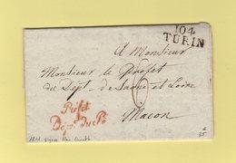 Turin - 104 - 1811 - Prefet Departement Du Pô - Signe Alex Lameth - Departement Conquis Du Pô - ...-1850 Préphilatélie