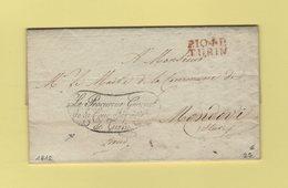 Turin - 104 - 1812 - Le Procureur General De La Cour Imperiale De Turin - Franchise - Departement Conquis Du Pô - Italia
