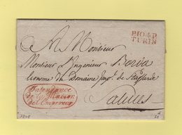 Turin - 104 - Port Paye - 1808 - Intendance De La Maison De L Empereur - Departement Conquis Du Pô - Storia Postale
