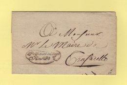 Prefecture Du Departement Du Pô - 1811 - Franchise  - Departement Conquis Du Pô - Marcophilie (Lettres)