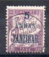 ZANZIBAR - YT Taxe N° 5 - Cote: 24,00 € - Zanzibar (1894-1904)