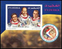 721 Fujeira MNH ** Mi Bloc N° 89 B Non Dentelé (imperforate) Espace (space) Apollo 15 - Space