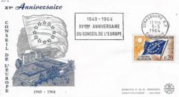 France 1964 XV ème Anniversaire Conseil De L'Europe, 1 Enveloppe - France