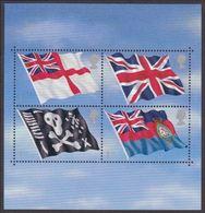 GROSSBRITANNIEN GRANDE BRETAGNE GB 2001 FLAGS & ENSIGNS M/S SG MS2206 SC SH1971 MI B12-1960-63 YV BF2289 - Blocks & Kleinbögen