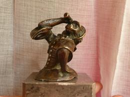 Curiosité XIXe - Singe Savant - Guenon à La Lorgnette - Bronze - Bronzes