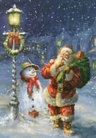 Santa Claus Is Asking Silence - Snowman Under The Street Light - Santa Claus