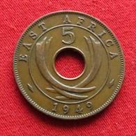 East Africa 5 Cents 1949  Africa Oriental Afrique Afrika Wºº - Monnaies